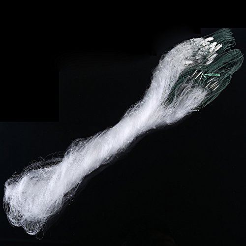 VGEBY 1.2x30M Clear Fishing Cast Net with Float for Bait Trap Fish (3-Figer Mesh)