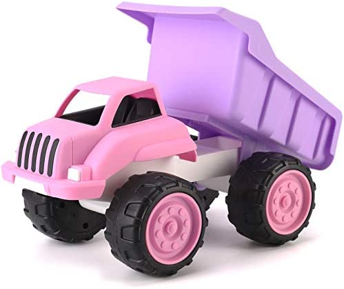 Big Plastic Dump Truck in Pink Color for Toddlers and Girls | Free Play Toy Vehicle Indoor and Outdoor Imaginative Play