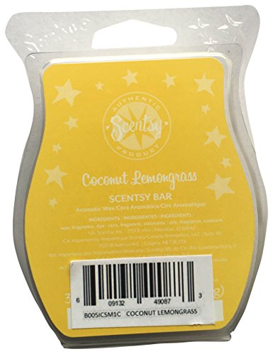 Scentsy Coconut Lemongrass Wickless Candle