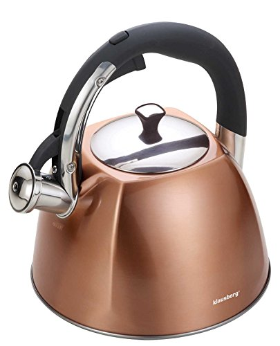 Copper Whistling kettle 3 liters Stainless Steel Induction , Gas , All cookware . Easy to open
