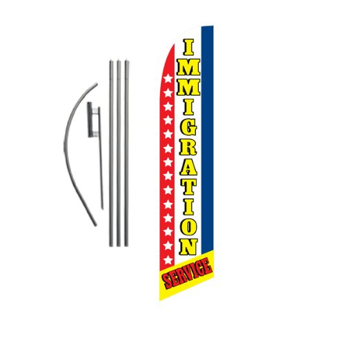 Buy cheap immigration service 15ft feather banner swooper flag kit includes pole ground spike