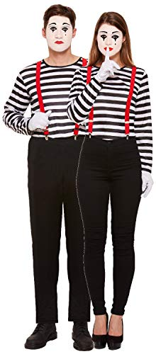 Couples Ladies AND Mens Striped French Mime Artist