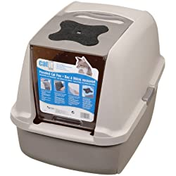Catit Hooded Cat Litter Pan - Gray