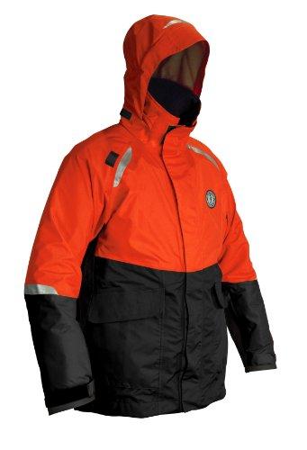 MUSTANG SURVIVAL Catalyst Flotation Coat, Orange/Black, Large