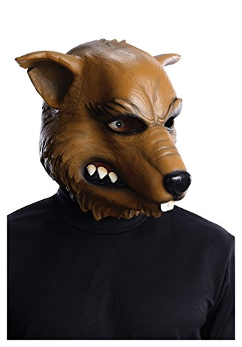 Keep It Clean Adult Costumes (Rubie's Costume Teenage Mutant Ninja Turtles Deluxe Splinter Latex Mask, Gray, One Size)