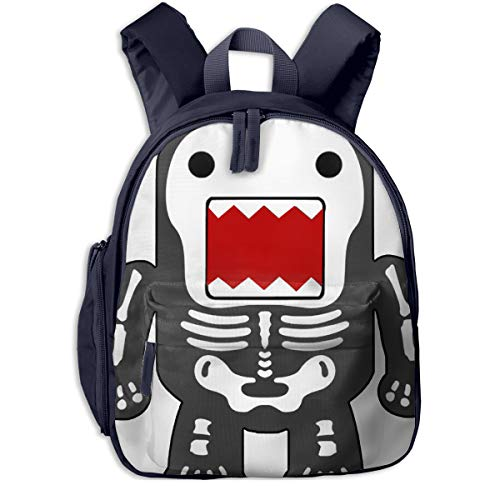Children's School Bags Funny Cool Domo-kun Skeleton Lightweight Mini Printed Backpack For Kids -