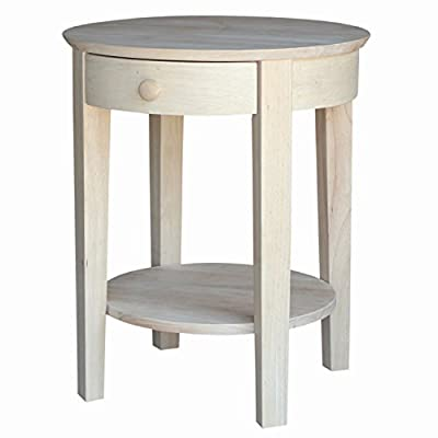 International Concepts OT-2128 Accent Table, Unfinished -  - living-room-furniture, living-room, end-tables - 41pi1nbs3BL. SS400  -