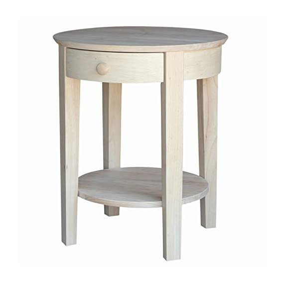 International Concepts Accent Table, Unfinished - Unfinished, finishing kit is available for purchase The weight of the product is 26 lb Experience an enhanced look along with essential function - living-room-furniture, living-room, end-tables - 41pi1nbs3BL. SS570  -