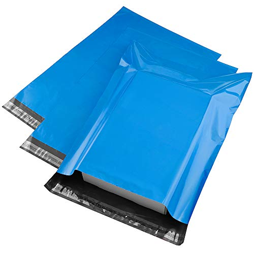 (Metronic 100pack 12x15.5 Blue Poly Mailer Envelopes Shipping Bags with Self Adhesive, Waterproof and Tear-Proof Postal Bags)