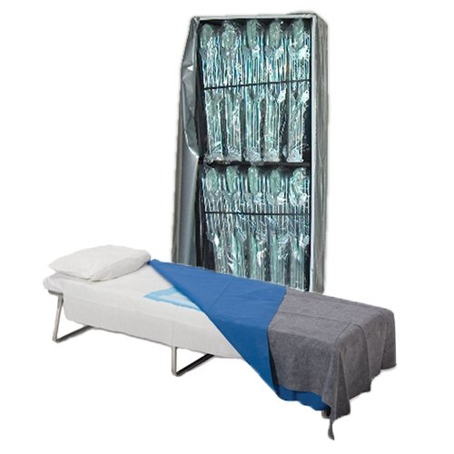 Image of Blantex Adjustable Cot (10) with Cart Cots