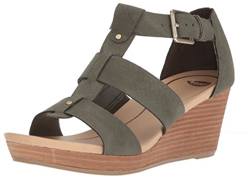 Dr. Scholl's Shoes Women's Barton Wedge Sandal, Green Snake Print, 7 M US ()
