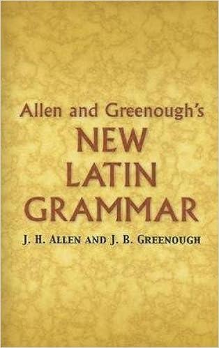 Allen and Greenoughs New Latin Grammar