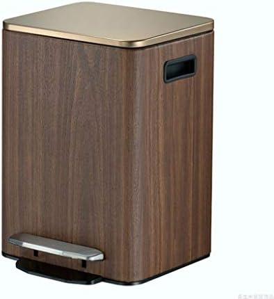 ゴミ袋 ゴミ箱用アクセサリ ヨーロッパの創造的な大きいゴミ箱はふたのゴミ箱9L / 12Lのペダルのステンレス鋼の貯蔵のバケツが付いている居間の寝室を家に帰すことができます キッチンゴミ箱 (サイズ : L)