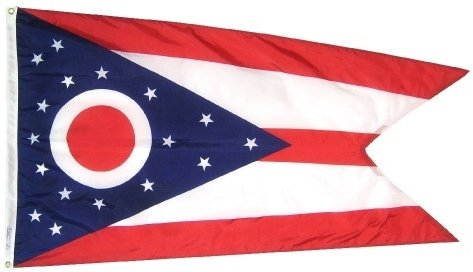 3x5' Ohio Heavy Weight Nylon Flag From All Star Flags