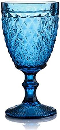 Copas De Vino Alivio Vino Copas de cristal rojo retro taza del vino de 300 ml Grabado repujado jugo de bebida copas de champán Surtido cubiletes Copas De Vino Tinto ( Capacity : 300ml , Color : A6 )