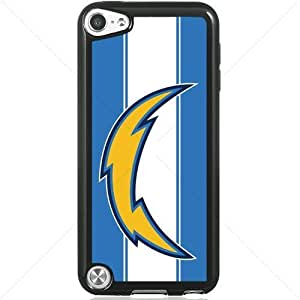 NFL American football San Diego Chargers Fans Apple iPod Touch iTouch 5th Generation Hard Plastic Black or White cases (Black)Kimberly Kurzendoerfer