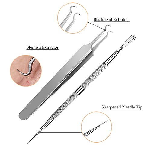 CHIMOCEE 6PCS Blackhead Removal Tool Kit for Whitehead, - Import It All