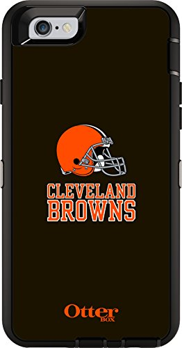 OtterBox Defender Case for Apple iPhone 6 - Retail Packaging - NFL Browns (Black, Cleveland Browns NFL - Sports Otterbox Case Iphone 6