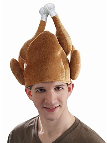 Forum Novelties Roasted Turkey Hat for Adults - One Size
