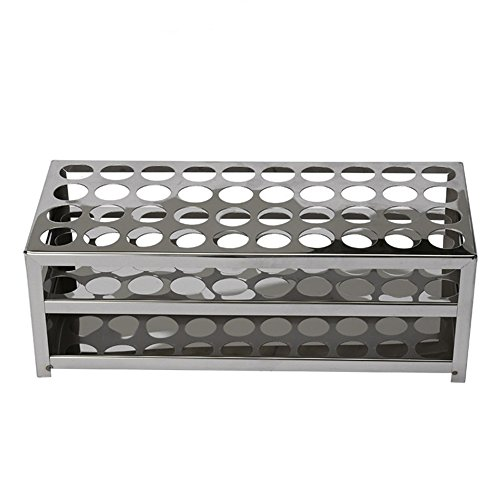 - LPATTERN Rectangular Stainless Steel 30 Tubes 18.5mm Hole Test Tube Rack Holder (LxWxH:240x80x82mm)