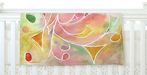 KESS InHouse Rosie Brown Gift Wrap Multicolor Pastel Fleece Baby Blanket 40 x 30 [並行輸入品]   B077ZSGMFJ