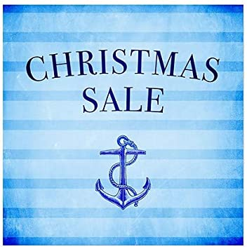 5-Pack Christmas Sale Nautical Stripes Clear Window Cling 24x24 CGSignLab