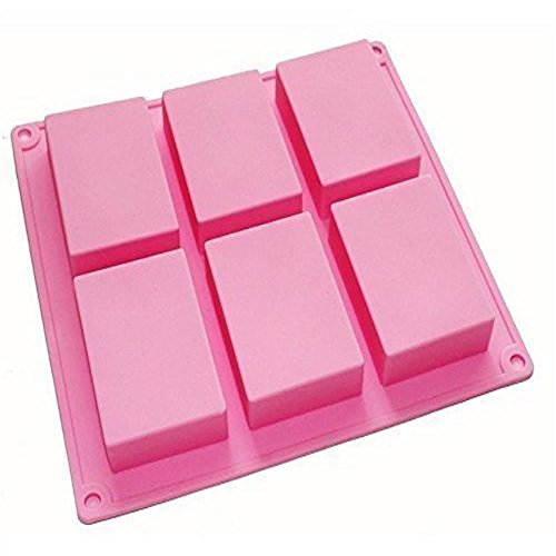 6-Cavity Rectangle Soap Silicone Mould Tray - 3