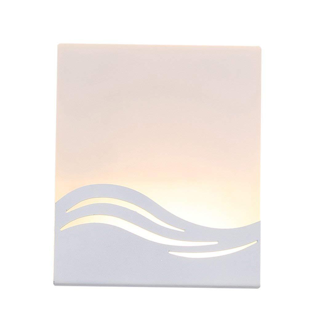 OVIIVO Creative Table Lamp Desk Lamp Led Wall Lamp, Bedroom Bedside Lamp Creative Hotel Outdoor Balcony Stairs Aisle Energy Saving Wall Lights 12 14 4.5CM Warm Light New (Size : 12 14 4.5CM) Using fo