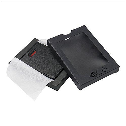 Men S Slim Wallet Genuine Leather Money Clip Pull Tab