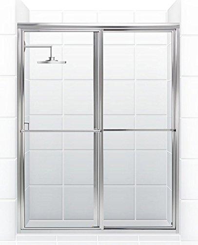 Coastal Shower Doors Newport Series Framed Sliding Shower Door with ...