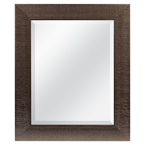 MCS 16x20 Inch Textured Mirror, 21.5x25.5 Inch Overall Size, Bronze (20574) by MCS