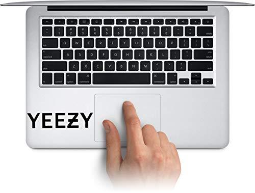WallDecalArtStudio Yeezy Vinyl Stickers Laptop Decals for MacBook, Tablets Water Bottle Cup Decals, Waterproof Car Bumper Stickers Made in US (Message for Color) ()