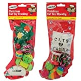Pet Cat Christmas Xmas Stocking with Cat / Kitten Toys 2/pk by Concept4u