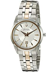Bulova Womens 65M104 Sorengo Analog Display Swiss Quartz Two Tone Watch