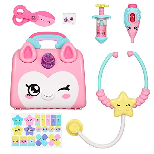 🥇 Kindi Kids Doctor Bag – Kindi Fun Unicorn Toy Doctor Bag with Shopkins Thermometer and Many More Accessories