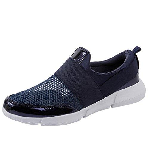 Cinnamou Zapatillas Deportivas de Mujer,Peso Ligero Calzado Casuales De Las Mujeres para Correr Zapatillas Exteriores Respirables Entrenamiento atlético Azul