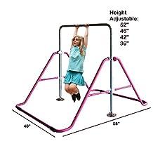 ToyKraft Kids Jungle Gymnastics Adjustable Monkey Bars Climb Tower Expandable