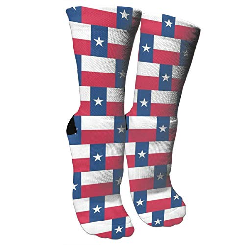 HAQCN Texas Flag Knee High Graduated Compression Socks for Women and Men - Best Medical, Nursing, Travel & Flight Socks - Running & ()