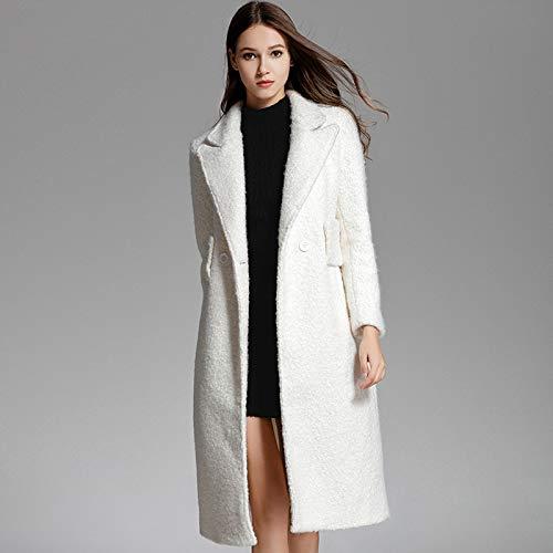 Épaisse Blanc Fjthy Laine Long Hiver En Femme Manteau q1vwRPt 5a7aed4c0a