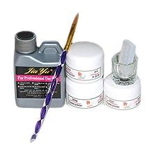 Coscelia Pro Acrylic Powder Liquid Kits Nail Art Tip Kit Dust 3D Mold Brush Deco Set