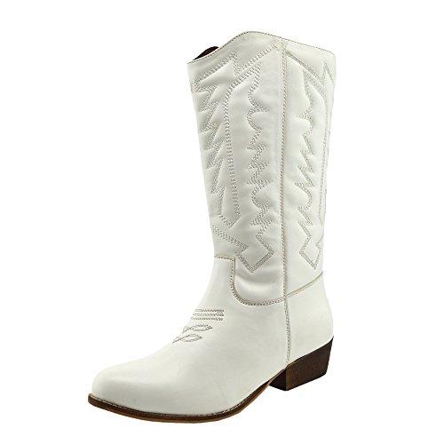 sb sb Zip Boots Polpaccio A Cavallo Cavallo Cavallo A Metà Biker Blocco Cowboy Tacco White Scarpe Donna Up CwSZ6qvC