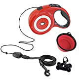 Joly Joy Retractable Dog Leash Heavy Duty Cord 26ft Extra Long, One Button Control & Tangle Free Quick Retracting Lead & Comfortable Grip, for Small Puppy/Medium to Large Pet Breed Up to 110LBs (Red)