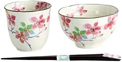 花ごころ 飯碗湯呑 桜(天宝箸付) 03644