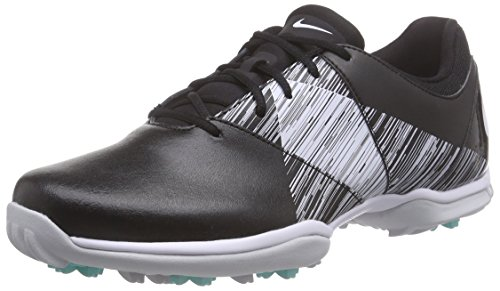 Nike Womens Delight V LEA Golf Shoes 651998 Trainers Sneakers (US 6.5, black white turquoise 001)