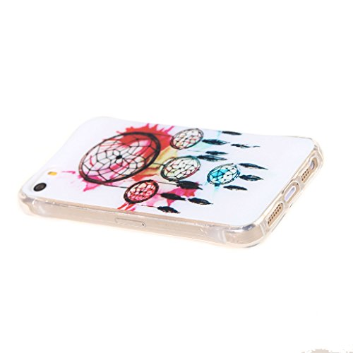 PowerQ Bubble Blase Serie Tropfen Widerstand buntes Muster TPU Case Hülle < Campanula color splash - für IPhoneSE IPhone 5S SE 5 5G IPhone5S IPhone5 >           4-Corner Gassack Blase Stoßstange Airbag Drop Res