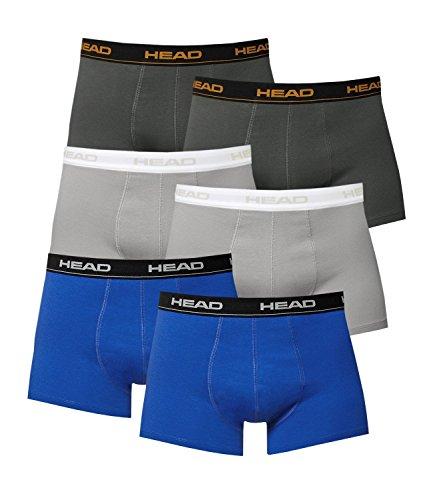 couleurs Men Dark de Blue Dans 6 Underpants nombreuses Boxer Grey Shadow 2x black Head Pack Boxershorts zxdqzA