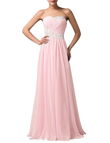 Pleats Evening Strapless Pink Long Dress Party Prom Women's DianSheng Appliques fgwZZq