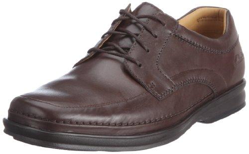 Clarks Scopic Tie 20348 Herren Schnürhalbschuhe Braun (Ebony Leather)