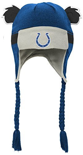 NFL Toddler Ears Trooper Stripe Hat-Speed Blue-1 Size, Indianapolis Colts