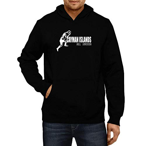 (Idakoos Cayman Islands Soccer Shape Hoodie L Black)